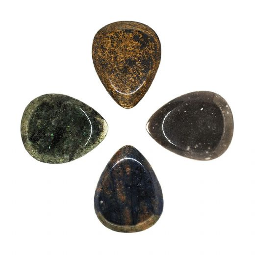 Rock Tones Mixed Pack of 4 Guitar Picks